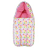 First Kids Step Baby Sleeping Bag cum Baby Carry Bag (Pink, 0-3 Months)