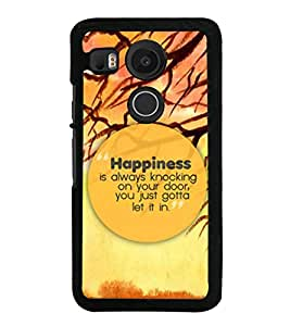 PrintVisa Designer Back Case Cover for LG Nexus 5X :: LG Google Nexus 5X New (Anmated Wallpaper Happiness is Always Knocking)