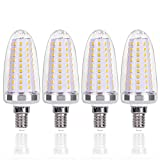 SanGlory Lampadine a Candela E14 LED 14W Equivalenti a 120 W, Lampadine a Candelabro Bianco Caldo 3000K, 1580LM, Lampade LED E14 Non Dimmerabile, 4 Pezzi (E14 Luce Calda)