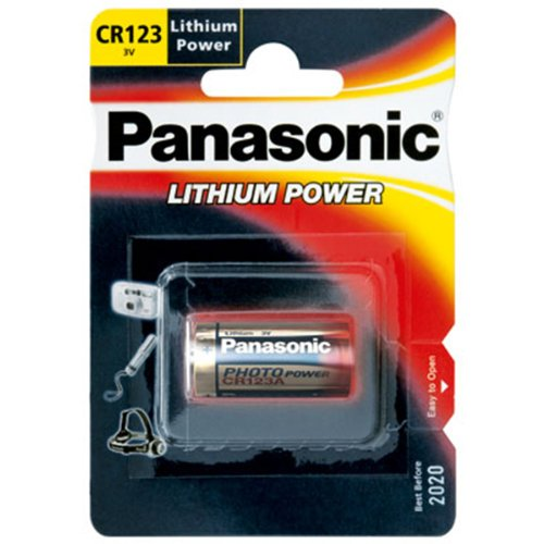 Panasonic CR123A Photo Power Lithium Batterie 10-Pack, 1450mAh -