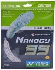 Yonex Nanogy 99 Microfiber Badminton String, 0.69mm (White)