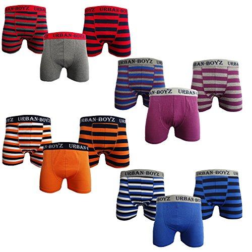 Herren Trunks / Boxer Shorts, Baumwolle, 6 / 12Paar, S–XL, unifarben / gestreift Gr. Größe L, Schwarz - PLAIN/STRIPE 12 PACK (Trunk Baumwolle Gestreift)