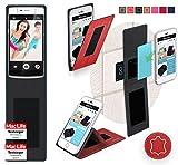reboon Hülle für Oppo N3 Tasche Cover Case Bumper | Rot Leder | Testsieger