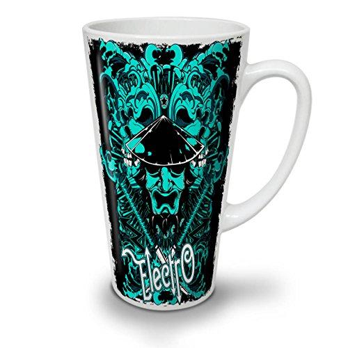 Meister Kostüm Musik - Wellcoda Electro Samurai Musik Latte BecherMusik Kaffeetasse - Komfortabler Griff, Zweiseitiger Druck, robuste Keramik