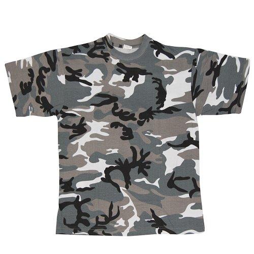 Mil-tec us t-shirt camuffare qualità leggero (azzurro/3xl)