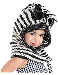 VAMEI Kids Knitted Coif Hat Hood Bufanda Gorros Winter Warm Animal Hats para  niñas Niños Niños b89a7e574a83