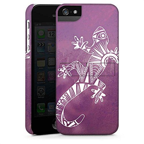Apple iPhone X Silikon Hülle Case Schutzhülle Mandala Eidechse Gecko Premium Case StandUp