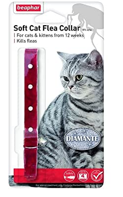Beaphar Cat Flea Collar Diamante Black Or Red from KB4175A-V0Parent