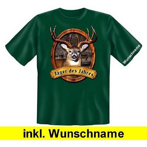 Stiloso e alla moda Fun T-Shirt: cacciatore del (con angelo nome) (colore: scuro-verde)