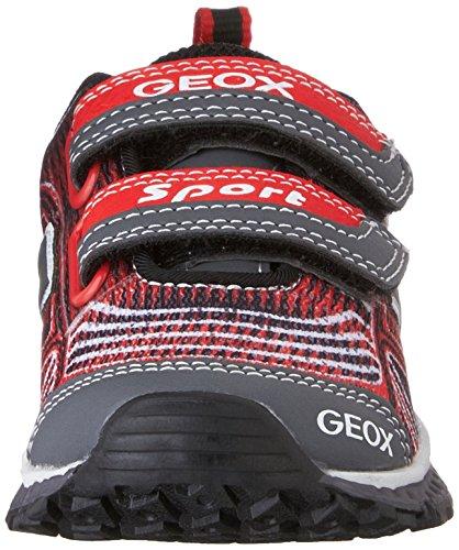 GeoxJ BERNIE B - Scarpe da Ginnastica Basse Ragazzi Rosso (Red (RED/GREYC0025))