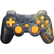 Warfare Mando Inalámbrico Bluetooth Controller Doble Vibración para Sony PS3 PlayStation 3 con Funciones SIXAXIS - Warfare Edition (Amarillo)