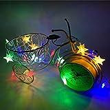 LED Lichterkette,Star Lichterkette Lichterkette Aussen 2M 10 LED Crystal Clear Sterne Fairy String Licht für Weihnachten, Hochzeit, Party, Zuhause sowie Garten, Balkon, Terrasse, Fenster, Treppe, Bar, etc Prevently (Mehrfarbig)