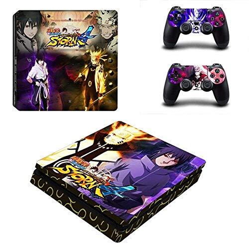 Anime Naruto Aufkleber für Sony Playstation 4 Konsole und 2 Controller PS4 Slim Skin Sticker Vinyl 3 -