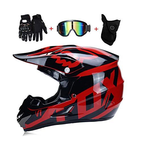 LEENY Adulto Motocross Cascos Motos Gafas Guantes