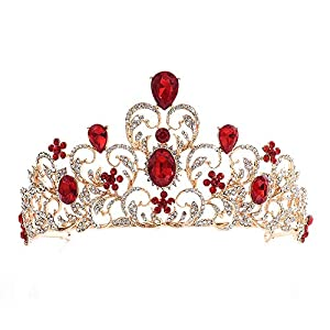 Beauty Tiara Alloy Diamant Festzug Crown Queen Retro Braut Haarschmuck