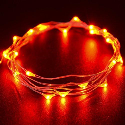 Due set di rosso rame filo stellato crazyfire® rosso String luci + 3M/3m Wire + 30micro lampadine LED + Batterie AA + con luci per esterni e interni fai da te luci decorative Per Natale, Halloween, feste di compleanno, San Valentino, Matrimonio, da soffitto, Armadio