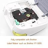 6x Brother TZe Tape 12mm TZe-131 TZe-231 TZe-431 TZe-531 TZe-631 TZe-731 Label Tape Cassette Compatible with Brother P-touch PT-1000 PT-1010 PT-H101C GL-H105 PT-2030VP, 12mm x 8m