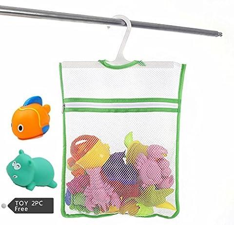 Sac Jouet de bain , Chickwin bébé Jouet de Bain Sac de rangement en maille rangement en maille jouets de bain (B)