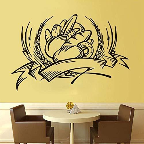 JXTK Restaurant Hintergrund Dekoration Brot Wandaufkleber West Point Shop Wind selbstklebendes Papier 90cm x 58cm -