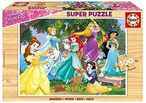 Educa Borrás- Disney Princess Puzzle de Madera 100 (17628)