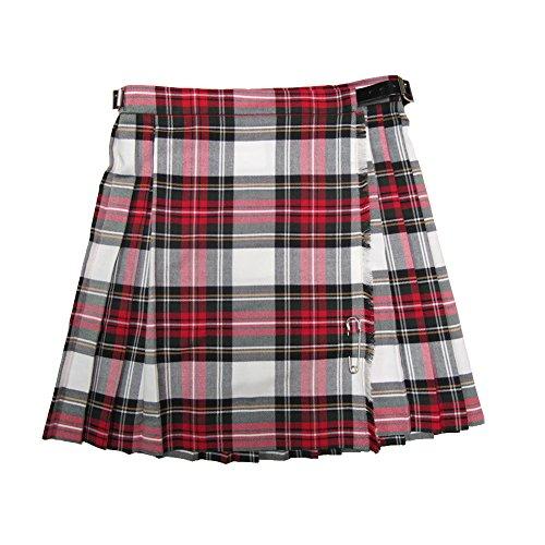 Glen Appin - Mädchen Kilts mit Falten und Tartanmuster - Dress Stewart (für Festliche Anlässe) - 8 Jahre - 53 x 33 cm (Bund x Länge)