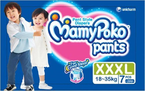 Mamy Poko Pant Style Diapers - XXXL Size, 7 Piece Pack