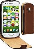 OneFlow Premium FLIP Case / Cover / Schutzhülle - für Samsung Galaxy S3 MINI (GT-i8190) - DUNKELBRAUN