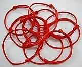 Pulseras de cordel rojo Lot-Kabbalah de Zhichengbosi, paquetes de 12 y 24 unidades