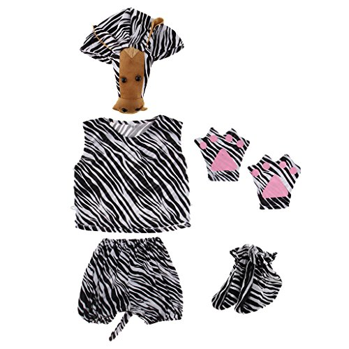 Baoblaze Kinder Tierkostüm Tier Kostüm Baby Fotoshooting Kostüm für Halloween Karneval Fasching - Zebra