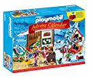 Image of Playmobil 9264 Advent Calendar 'Santa's Workshop' with Electronic Lantern