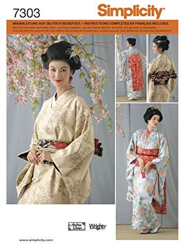 (Simplicity Schnittmuster 7303 RR Damen Kostüm Kimono Gr. 40-46)