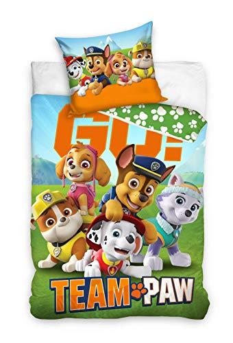 Paw Patrol Bettwäsche 140x200 + 70x90, 100% Baumwolle Kinderzimmer Kinder Junge Dream Bettbezug