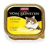 Animonda Vom Feinsten Senior Nassfutter, für ältere Katzen ab 7 Jahren, mit Geflügel, 32 x 100 g