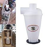 Vinteky® Staubabscheider Staubabsaugung Zyklon Filter Abscheider Hochleistungszyklon Pulver Staub Sammler (weiß)