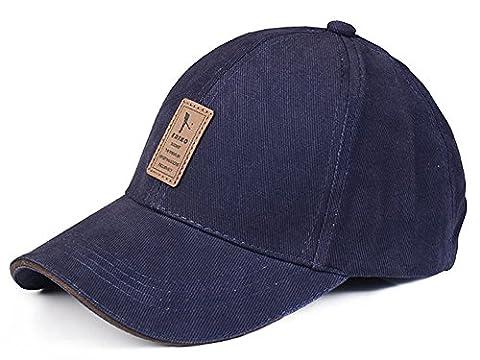 Baseball Mütze für Erwachsene Baumwolle Mütze mit Leder Aufkleber Geeignet für Frühjahr Sommer und Herbst, Cyan