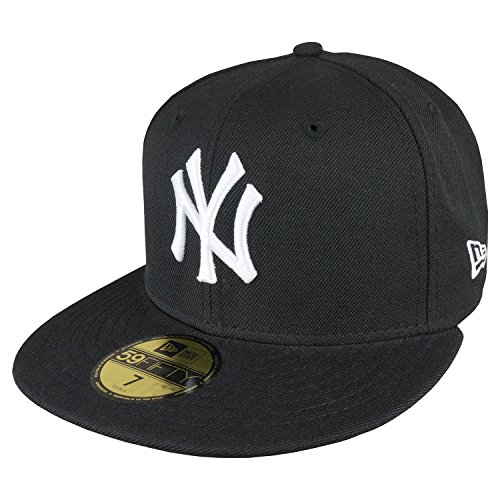 New Era Cap MLB BASIC NEW YORK YANKEES black white, 7 3/8 (58.7cm)