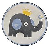 CKH Cartoon Cute Animal Round Carpet Schlafzimmer Bekleidungsgeschäft Foto Round Basket Korb Garderobe Home Computer Polsterung (Size : Diameter 60cm)