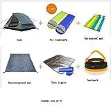 QFFL zhangpeng Tenda a doppia tenda antipioggia Set da esterno per 3-4 persone...
