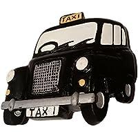 #1 Best Seller London Taxi Cab Hackney/Nero/Cab/Hackney Magneti in poliresina, a forma di carrozza, da collezione, Souvenir! Souvenir/Speicher/Memoria! speciale, Unique-Calamita, da collezionare! più Memorable London Souvenir! Aimant/Magnet/Imán calamite S01!
