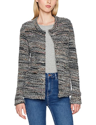 rich&royal Damen Strickjacke 1707-237, Grau (Cloudy Grey 834), X-Small