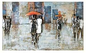 Gilde Metall Bild'Rainy day' 38499