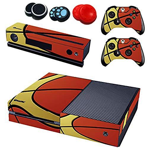 easyCool Vinyl-Aufkleber für Xbox One Konsole, mit 2 kostenlosen Wireless Controller-Aufklebern (Nicht Xbox One Elite/Xbox One S/Xbox One X - Basketball)