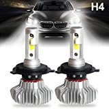 LED Headlight Bulbs H4 9003 HB2 Automotive Car All-in-One Conversion Kit Super Bright