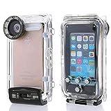 Saflyse Wasserdicht Unterwasser Schutzhülle Gehäuse Kamera-Gehäuse Unterwasser Seashell Case geeignet für5,5 Zoll iPhone 6 Plus (Stil 1,5,5 Zoll iPhone 6 Plus,schwarz)