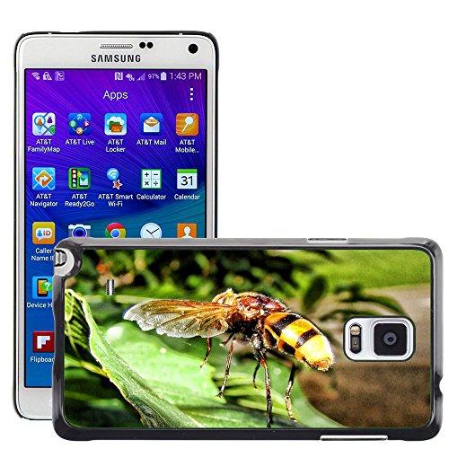 Carcasa Funda Prima Delgada SLIM Casa Case Bandera Cover Shell para // M00130125 Vespa Insect Yellow Jacket Sting // Samsung Galaxy Note 4 IV