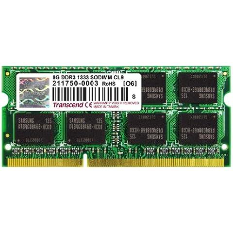 Transcend TS1GSK64V3H - Memoria RAM de 8 GB DDR3, 1333 MHz