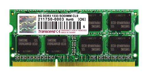 TRANSCEND 8GBGB DDR3 1333MHZ LAPTOP RAM (TS1GSK64V3H)