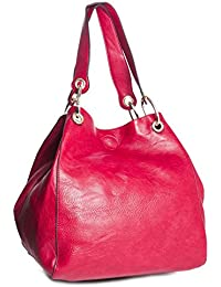 BHBS Femmes Vogue Deux en un en Forme de Seau Grand Sac fourre-tout d'épaule 38x34x22 cm (LxHxP)