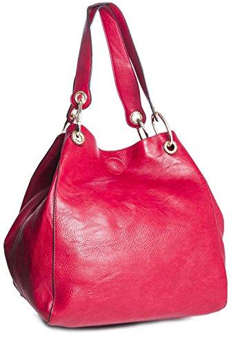 Big Handbag Shop - Sacchetto donna (rosso)