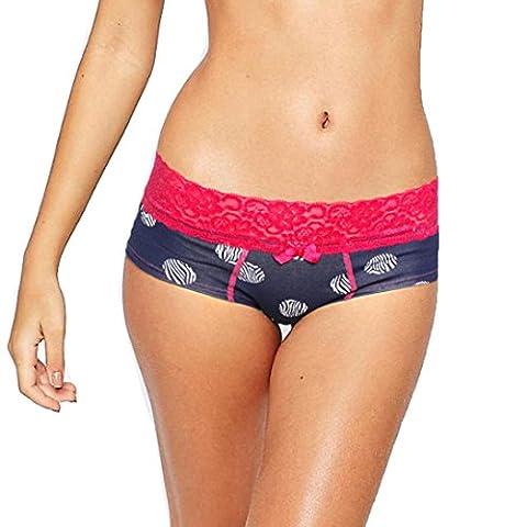 Underpants Longra® Mens|Women Cute Knickers Fashion Boxer Underpants Sexy Briefs Print Shorts Underwear (S, Women : Navy)